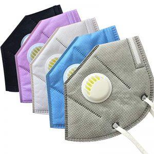 Colorful FFP2 N95 Folding Face Respirators Masks