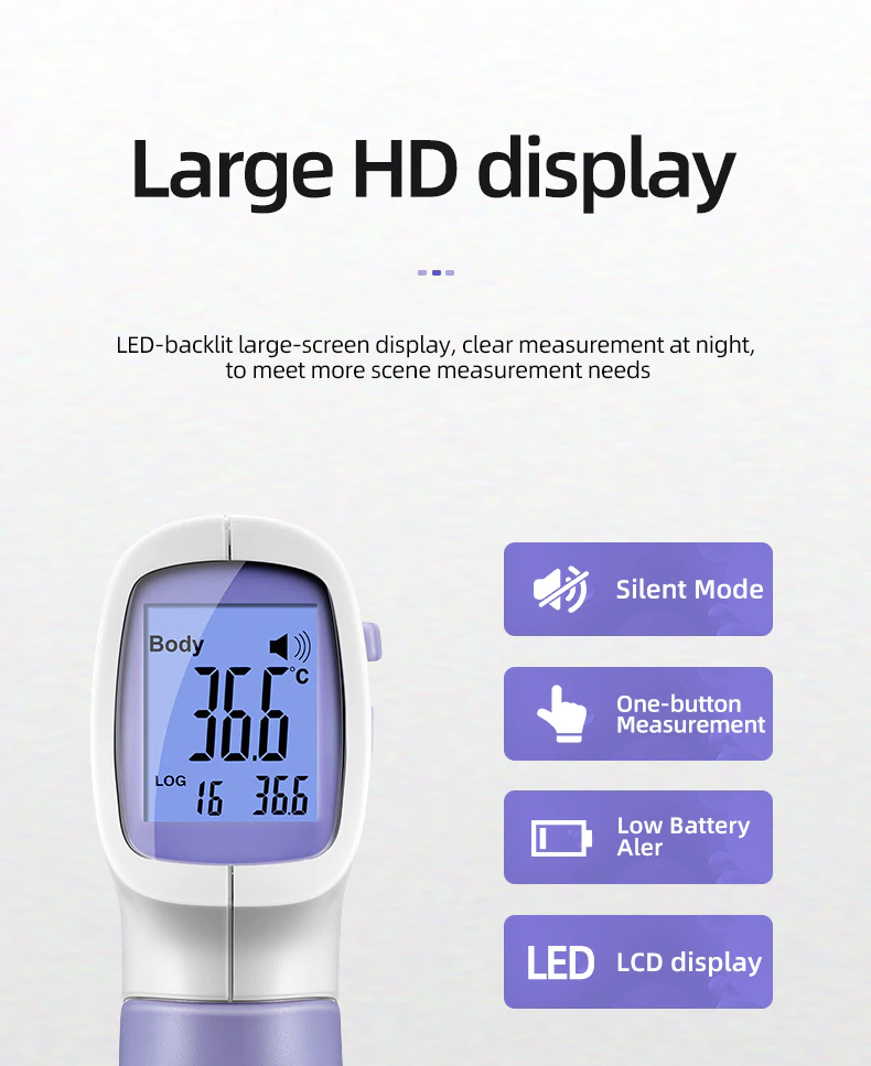 Multi-function Digital Infrared Thermometer HD Display